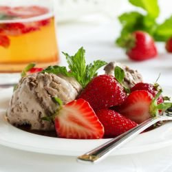 Strawberry, Mint and Chocolate Sorbet
