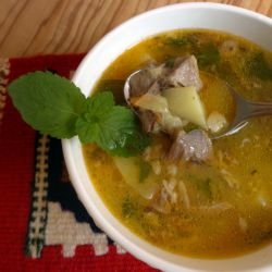 Soup from Lambs` Heads