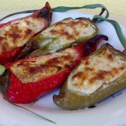 Stuffed Peppers with Mince and Feta