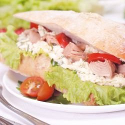 Tuna Fish and Brie Sandwich