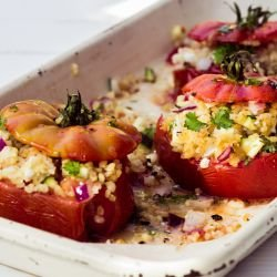 Stuffed Tomatoes with Amaranth