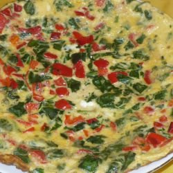 Colorful Frittata with Peppers and Spinach