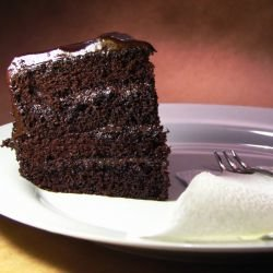 Devil's Food Cake with Glaze