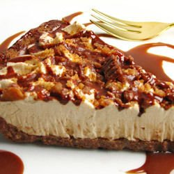 Banana Cheesecake with Caramelized Sugar