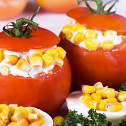 Stuffed Tomatoes with Roasted Corn