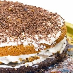 Cake with Mascarpone and Chocolate