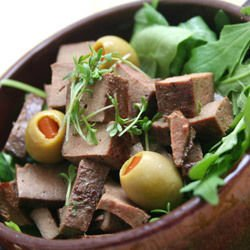 Liver with Onions and Olives