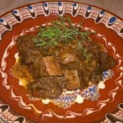 Chicken Livers with Onion and Wine
