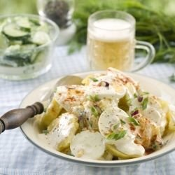 Potato Salad with Eggs and Mayonnaise