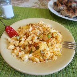 Eggs with Leeks and Feta Cheese