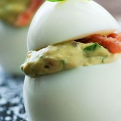 Stuffed Eggs with Capers and Mayonnaise