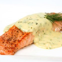 Salmon with Cream Sauce in Tin Foil