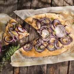 Focaccia with Red Onions