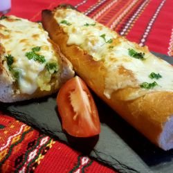 Stuffed Baguettes with Peppers and Potatoes