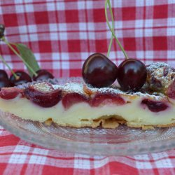 French Dessert with Cherries