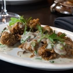 Chicken Livers with Mushrooms and Cream