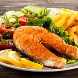 Fried Salmon Steaks