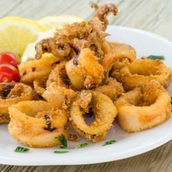 Crunchy Calamari with Capers