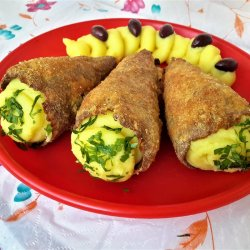 Mince Cones with Mashed Potatoes