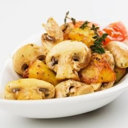 Oven Baked Mushrooms with Potatoes