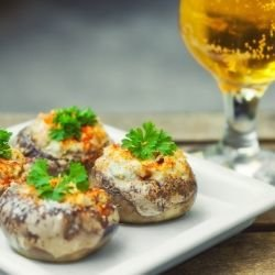 Baked Mushrooms with Feta Cheese