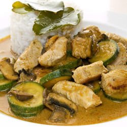 Chicken with Zucchini and Mushrooms