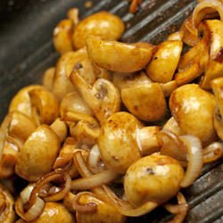 Fried Mushrooms with Onions