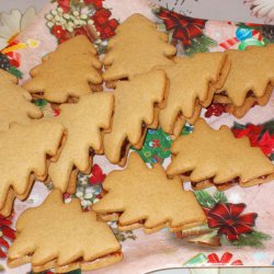 Ginger Christmas Tree Cookies