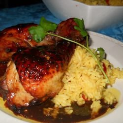 Glazed Chicken Legs with Honey and Soy Sauce