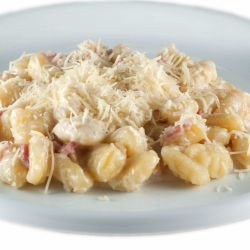 Gnocchi with Fontina and Pancetta