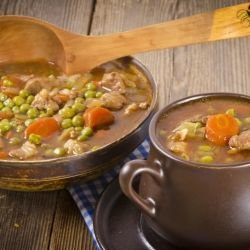 Pork with Peas and Potato Stew