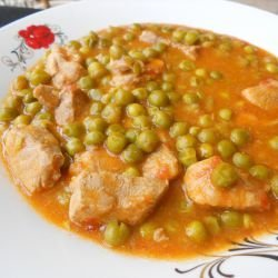 Veal with Peas