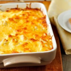 Potato Casserole with Feta Cheese and Cheese