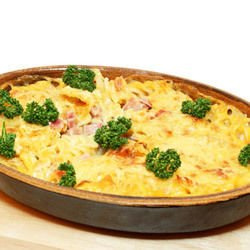Potatoes with Cheese and Ham