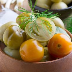 Sunny Pickle with Green Tomatoes