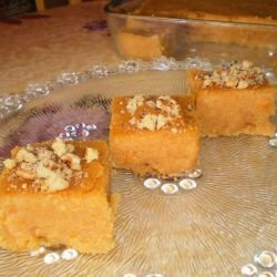 Semolina Halva with Walnuts