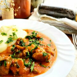 Classic Pork Goulash with Mashed Potatoes