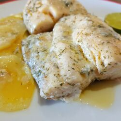 Oven-Baked Marinated Hake in Foil