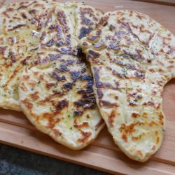Indian Naan Bread with Aromatic Spices