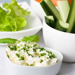 Spicy Salad with Cottage Cheese