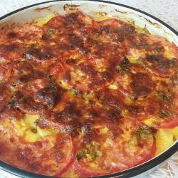 Oven Bake with Mince, Zucchini and Tomatoes