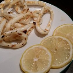 Squid in a Grill Pan
