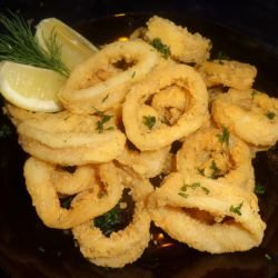 Squid with a Light Crumbing