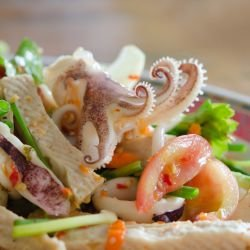 Squid, Sausage and Tomato Salad