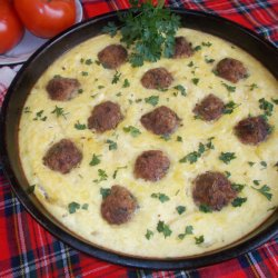 Potato Gratin with Meatballs