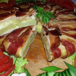 Potato Focaccia with Bacon