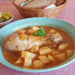Potato Stew with Chicken