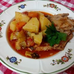 Potato Stew with Pork Steaks