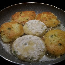 Potato Patties with Cheese and Eggs