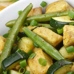 Broad Beans with Potatoes